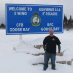 Rob's Joslin Tee keeping him warm in Goose Bay, Labrador...