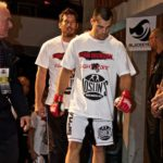 Ryan Dickson on his way to the cage at Hamilton place