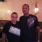 Ross and his Joslin's Tee with the legend Royce Gracie