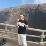 Peter taking his Joslin's Tee to great heights on Mount Vesuvius in Italy