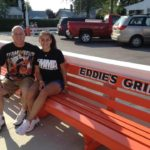 Mike Joslin and daughter Brenna sporting the Team Joslin sport wear at the World Famous Eddie's Grill in Ohio