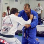 Royce Gracie and Jeff Joslin working some BJJ in Hamilton
